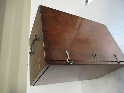 Antique Empty Wood Box Case Lemardeley France Microscope Part As Pictured  #Tb-5