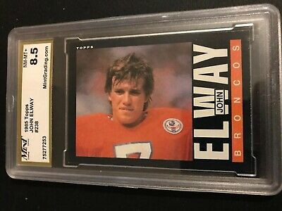 1985 TOPPS JOHN ELWAY 2nd YEAR CARD #238 MINT GRADING SERVICE 8.5 NM-MT+
