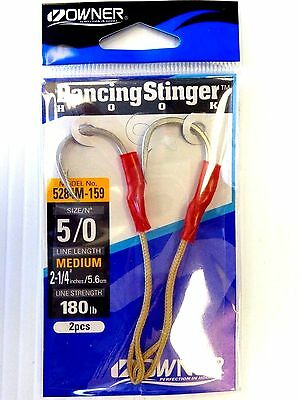 Choose 5//0, 7//0 Silver Owner Dancing Stinger Butterfly Jig Assist 5284