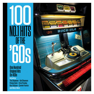 100 No.1 Hits Of The '60s - One Hundred Original Hits 4CD NEW/SEALED