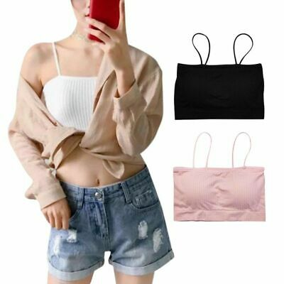 39f33ed21 Womens Girl Casual Seamless Strapless Bra Ladies Lace Crop Boob Tube Top  Bandeau