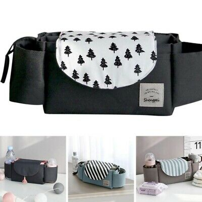 Waterproof Baby Stroller Storage Bag Pram Bottle Organizer Holder Hanging Bag US