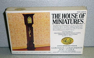 The House Of Miniatures Small Doll Furniture WILLIAM AND MARY CASE CLOCK mib