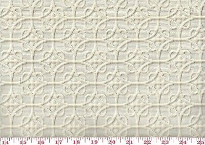 Beige Textured Matelasse Drapery Upholstery Fabric Golding's Carlisle CL Natural