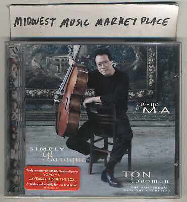 YO-YO MA - Simply Baroque - 2011 Remastered CD - New & Sealed With Hype Sticker!