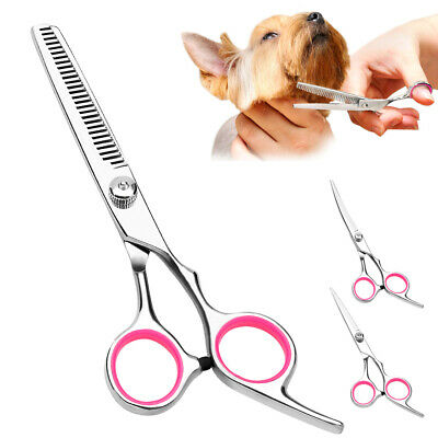 10pcs/lot Professional Dog Grooming Fur Hair Scissors Pet Curved Thinning Shears