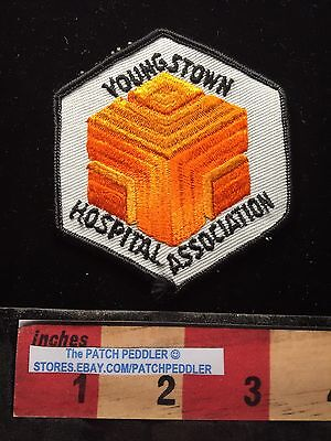 Vtg State Of OHIO Medical Jacket Patch YOUNGSTOWN HOSPITAL ASSOCIATION 63T5