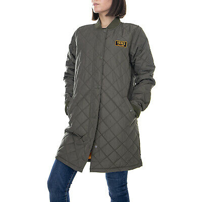489a87cef95db VANS BOOM BOOM Quilted Jacket Coat Olive Green $110.00 L Military ...
