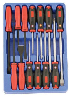 Genius Tools 13 Piece Screwdriver, Pry Bar & Scraper Set