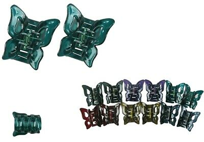 """12pcs Women Girl Butterfly Hair Claw Hand Printed Jaw Clip Clamp Updo Lot 1.5/"""""""