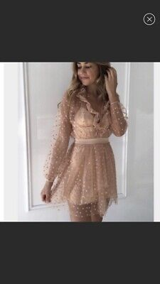 4ad8df76 Authentic For Love &and Lemons all that glitters mini dress RARE Blogger  Large