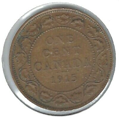 1913 Canadian Circulated F One Large Cent George V Coin!