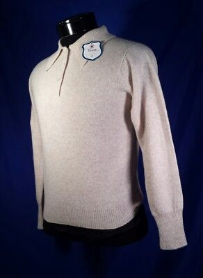 NWT Deans Of Scotland Sweater Polo Worsted Wool Khaki Women's 36 XS