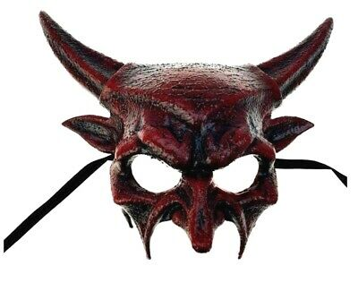 "Red Demon Lucifer Horned Devil Demonic Skull Car Shift Knob Resin Statue 3/""L"