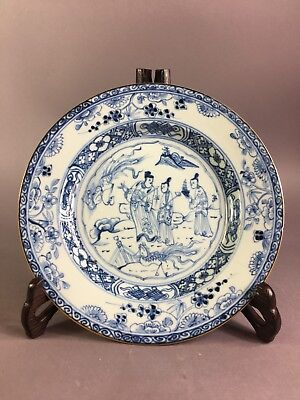 Antique Chinese Blue And White Plate 18Th Century Kangxi 2