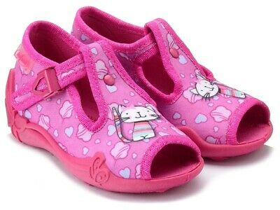 BABY BEFADO girls canvas shoes nursery slippers sandals NEW size 4UK KIDS