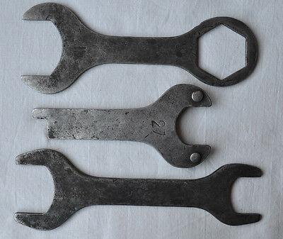 USSR Spanner Wrench Lot of 3 Soviet Combination double Hand Tool kit Vintage set