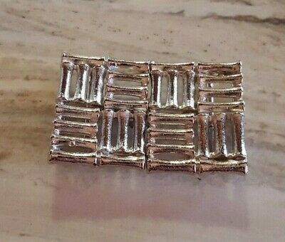 Vintage Mimi Di N Belt Buckle - Silver Bamboo Gate
