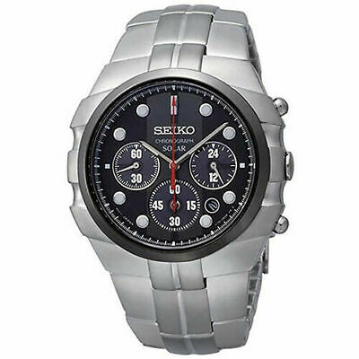 Seiko SSC089 Solar Men's Quartz Chronograph 100m Stainless Steel Watch