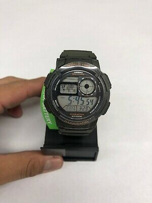 Casio Men's Quartz Illuminator Digital Green Resin Strap 45Mm Watch Ae1000w-3A