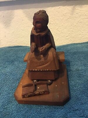 Vintage Antique Arni Italy Wood Painted Hand Carved Sculpture Figurine