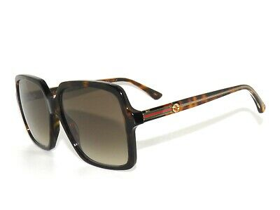 bc3ee262d9 GUCCI GG0053S OVERSIZED Square Sunglasses - Color 002 Brown ...