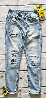 45ae90166799 MACY'S VANILLA STAR Juniors Mid Rise Skinny Ankle Destroyed Jeans ...