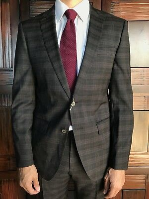 f3645e0b8 Hugo Boss Huston/Gander Trim Fit Wool Suit Super 120s Wool New 38R $995