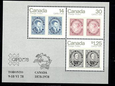 Canada MNH #756a Capex Souv Sheet 1978 Stamp on Stamp K161