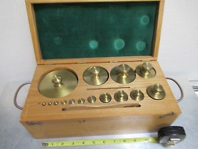 Heavy Brass Weights Calibration Metrology Weight Set As Pictured &tc-3