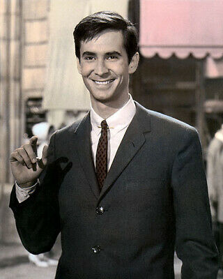 """ANTHONY PERKINS HOLLYWOOD ACTOR & MOVIE STAR 8x10"""" HAND COLOR TINTED PHOTOGRAPH"""