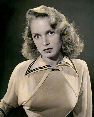 "JANET LEIGH HOLLYWOOD ACTRESS & MOVIE STAR 8x10"" HAND COLOR TINTED PHOTOGRAPH"