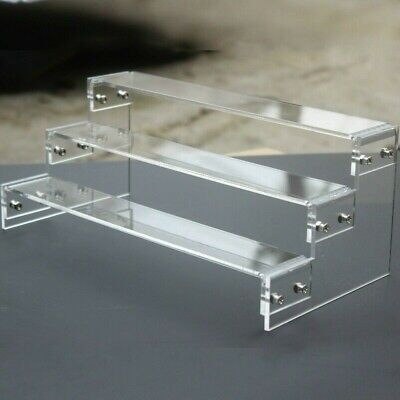 Acrylic 2-6 Tier Display Shelf Stand Showcase for Action Figure Toys Cosmetics