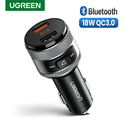 Ugreen QC 3.0 Bluetooth FM Transmitter for Car Kit Wireless Radio Adapter U Disk