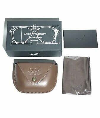 Persol Steve McQueen Folding Sunglasses Case, Cloth &  Box