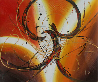 Hand painted Abstract Oil Painting on Canvas Modern Wall Art Deco Free shipping