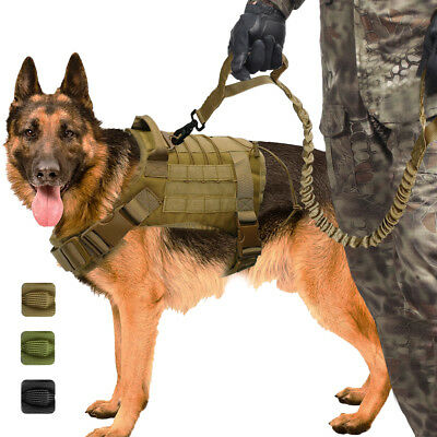 Military Tactical Dog Harness Leash Training for K9 German Sheperd Vest Large