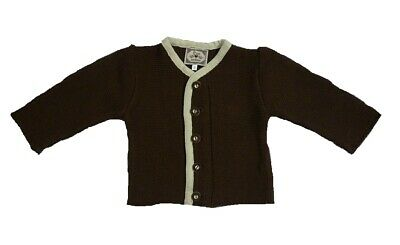 Traditional Costume Boy's Children's Cardigan Brown Size 92 98