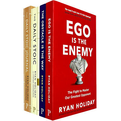 Ryan Holiday 4 Books Collection set (The Daily Stoic Journal,Ego Is The Enemy)