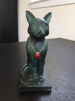 Bastet Statue - Egyptian Feline Cat Goddess Figurine Art