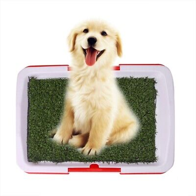 Pet Dog Potty Toilet Urinary Trainer Grass Mat Pad Patch Indoor Outdoor Home PE