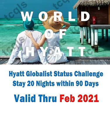 Hyatt Explorist Status and Fast Track to Globalist valid until Feb 2021