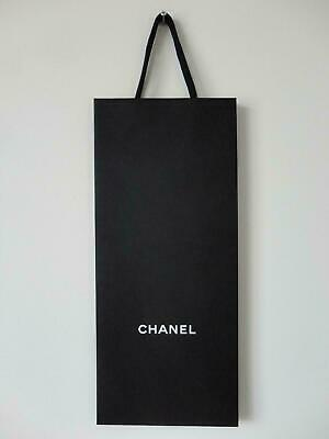 94e700ac6356 AUTHENTIC CHANEL BLACK Paper Shopping Gift Bag 11.5