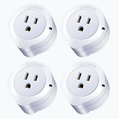 Etekcity WiFi Smart Plug, Energy Monitoring Mini Outlet with Timer (4-Pack), No