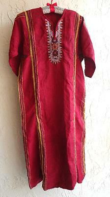 Vintage Festival CAFTAN DRESS Turkish Ottoman Central Asian Embroidery  XS