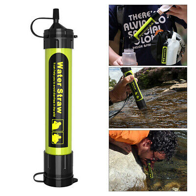 Outdoor Water Filter Straw Water Filtration System Water Purifier Camping Z6D5