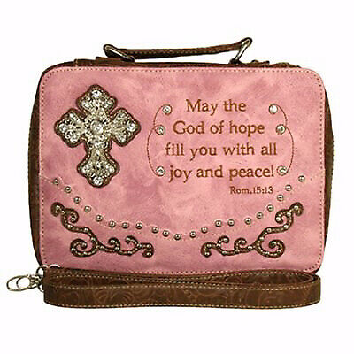 Bible Cover-Fashion/May The God Of Hope...Large-Pink