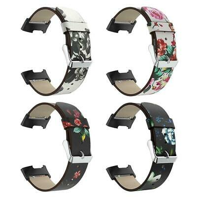 For Fitbit Charge 3 Floral Leather Replacement Watch Strap Bracelet Wrist Band
