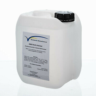 Dmso 5000 ML Sulfoxide 99,9% Purity in Hdpe-Kanister