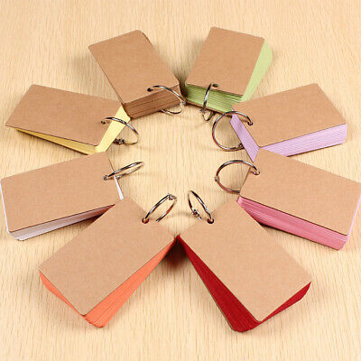 Flash Cards with Binder Ring Study Cards Note Cards Memo Scratch Pads Notebook